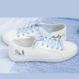 Venda por grosso de forma barata de Alta Qualidade Baixa Top mulheres sapatos de lona personalizada