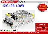 Alimentazione elettrica di commutazione del driver 12V 10A 120W del LED per illuminazione del LED