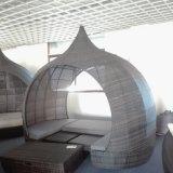 2018 Новый открытый плетеной кровать с шторки и Cushion-Well Furnir
