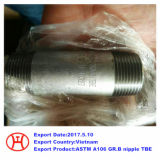 La norma ASTM A106 Gr. B pezón TBE