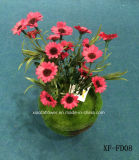 Margherita Bush artificiale/di plastica/di seta (XF-FD08) del fiore