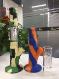 ケイ素およびガラスの造りの煙る管の組合せカラーの新しい来る配水管適合