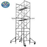 Systeem van de Steiger van de Ladder van het Frame van de Steun van het Wiel van de bouw het Regelbare Dwars