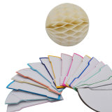 El tejido de la boda de nido de abeja de papel Flores de decoración de bolas de partido suministros