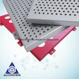 Precios baratos de agujeros perforados los paneles de pared exterior de aluminio