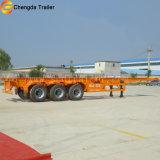 35 톤 2 차축 20ft Chasis 콘테이너 트레일러 골격 세미트레일러
