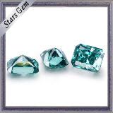 Diferentes tamaños de mediados de color verde de corte radiante Moissanite suelta a la venta