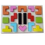 De klassieke Houten Geometrische Vormen kleurt het Leren het OnderwijsRaadsel van Kinderen