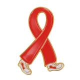 Le populaire vente sida broche métallique du ruban rouge d'un insigne