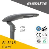 China-Fertigung-angeschaltene Straßenlaternebeleuchtet Solar 150W LED IP66