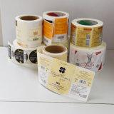 Etiquetas barato pre impressas personalizadas em um rolo
