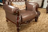 最もよい品質のオフィス用家具の新しく標準的なアラビアの革ソファー(169-4)