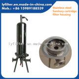 Líquido de la alta calidad y cárter del filtro del acero inoxidable del aire 5 pulgadas