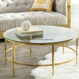Jogo baixo inoxidável de aço superior de vidro da mesa de centro