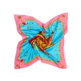 55*55cm Custom Design Square Lady Silk Scarf