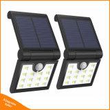 Lâmpada de dobragem solar sem fios do sensor de movimento do LED de exterior Jardim Luz de Segurança