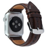 Design de Mode Simple Bracelet en cuir véritable brun pour Apple Watch