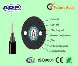Câble fibre optique blindé extérieur GYXTW du faisceau G652D du mode unitaire 6