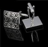 Decoração preta da jóia dos botão de punho dos presentes simples frescos dos homens da forma