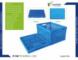 Empilables et pliable pour la logistique de la caisse en plastique