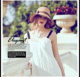 Stroh-Gesponnener faltbarer Sun-Hut der Frauen Sommer