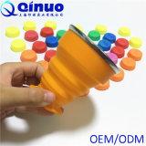 Todos os tamanhos e copos Foldable do silicone do produto comestível das cores