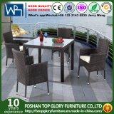 세트 TG Jw930f를 식사하는 삼각자 테이블 5 피스를 식사하는 안뜰 고리 버들 세공 정원