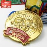 Prévision courante de médaille de lame d'érable du Canada en métal d'émail mol fait sur commande en gros de l'or 3D