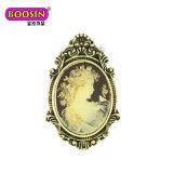Da flor de cristal da pérola do Rhinestone da forma Brooch feito sob encomenda para convites do casamento