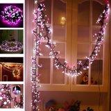 A corda impermeável do globo ilumina a luz feericamente para o casamento, pátio da cor do diodo emissor de luz da lâmpada decorativa cor-de-rosa decorativa do foguete da baixa tensão do diodo emissor de luz de Patricia Pearson 400 das luzes