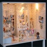 아이 DIY Wooen Handmade 생일 선물을%s 가진 소형 인형 집을%s 2017의 새로운 장난감