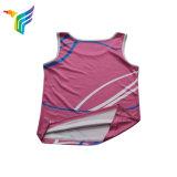 Новый продукт на заводе Custom Sublimated печать без выцветания на цветных спортзал Singlet для мужчин