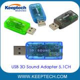 Wholesales USB 2.0 Adaptador de sonido 3D de canal 5.1.