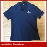 Großhandelsbaumwollange Hülsen-Mann-Golf-Sport-Polo-Hemden (P50)