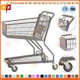 Asiento plástico moldeado carro del bebé de la carretilla de las compras del supermercado del metal (Zht184)