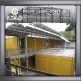 Casa pré-fabricada personalizada da instalação do recipiente de 2 assoalhos rapidamente para a oficina