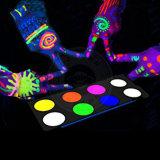 Brilha no escuro a arte de unhas pós de fósforo luminescente pigmento fluorescente
