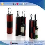 PUの革流行の単一のびんのワインのギフト用の箱の包装(5461R15)