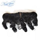 一等級の熱い販売のインドの緩い巻き毛13X4正面人間の毛髪