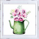 Decorazione domestica d'attaccatura di bella dei fiori stampa della tela di canapa