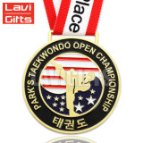 Comercio al por mayor Negro metal personalizado Soft enamel ejecutando Premio Medalla de deporte