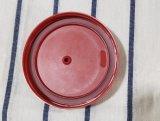 Silcioneのキーホルダー(BC-BL001)が付いている赤いタケファイバーのコップのふた