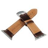 Для Apple Смотрите, 38/42мм из натуральной кожи коричневого цвета Iwatch ремешок замена ленты