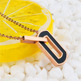 De recentste Juwelen van de Vorm van het Ontwerp O namen de Gouden Tegenhanger van de Halsband van het Roestvrij staal toe
