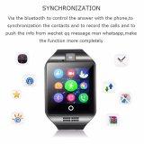 Teléfono elegante Q18 del reloj de la llamada de teléfono de Bluetooth G/M de la pantalla táctil
