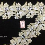 merletto di lusso ricamato nuziale Hme809 di Tulle del tessuto del merletto del narciso di 8cm