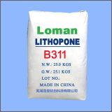 リトポン(ZnS。 BaSO4) (Rubberlith) (亜鉛バリウム硫酸塩) 28%-30%はペンキで使用した