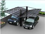 Ökonomisches Aluminiumkabinendach-Doppelt-Autoparkplatz-Polycarbonat-Dach