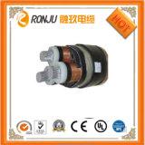Cable de transmisión acorazado de la envoltura del PVC de la base XLPE de la cinta de acero de cobre del aislante