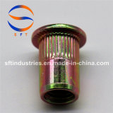 Noix ronde moletée principale plate ISO13918 de rivet du corps M8